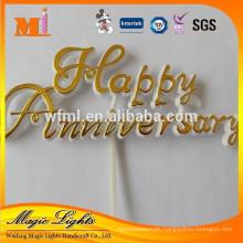 Plastic Cake Topper Happy Anniversary Decoration
