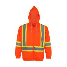 100% Polyester Reflective Safety Hooded Sweatshirt