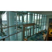 Bauprojekt Aluminium versteckte Rahmen Glas Vorhangfassade