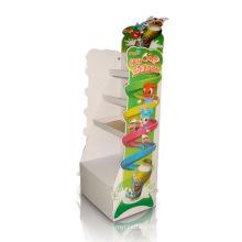 Pantalla de cartón de leche para niños, Stands de publicidad de dibujos animados
