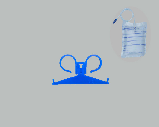 coupling hanger blue for urine bags