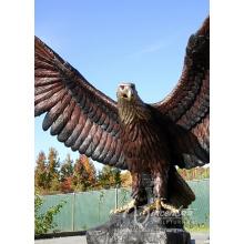 Decoração do jardim Animal Escultura Bronze Casting Giant Eagle Estátua para Venda Quente
