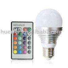 3W led bulb rgb E27 with remote control