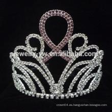 La tiara cristalina nupcial al por mayor del desfile del nuevo diseño embroma coronas del Rhinestone