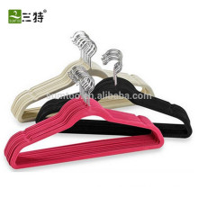 Factory wholesale black velvet suit hangers