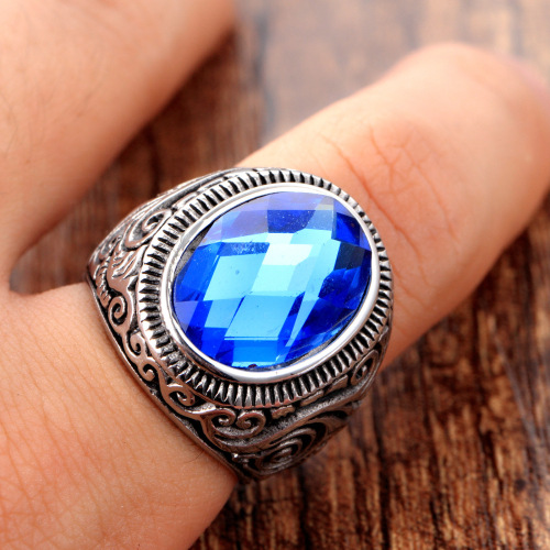 fashion blue ring