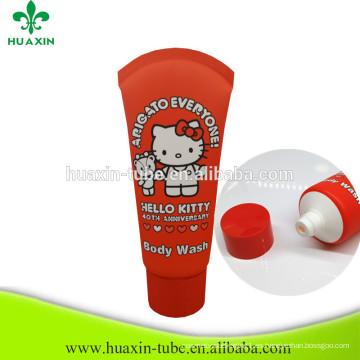 Tubo plástico cuadrado de la colada del cuerpo de China Manufactory 75ml