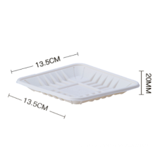 Biodegradable food packaging tray for sale Biodegradable storage fruit defrosting food plastic tray