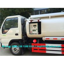 5000L JAC mini reabastecer caminhão, caminhão de reabastecimento móvel, caminhão de distribuição de combustível à venda