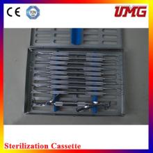 C10s Dental Isntrument Box Esterilizador Dental Inoxidable Casete