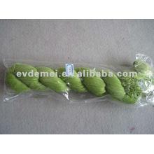 Echarpe en crinkle à longue plaine de viscose verte