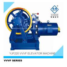 Máquina de elevador de passageiros engrenado YJF220-VVVF