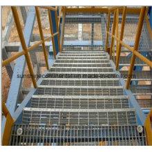 Verzinkte Plattform Stahl Gitter Treppe Lauffläche