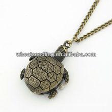 2013 Wholesale Tortoise Design Antique Brass Skeleton Pocket Watch 11030773