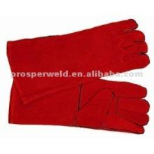 Rote Schweißhandschuhe