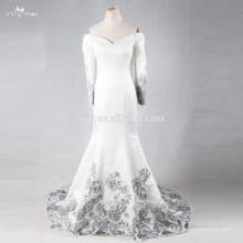 RSE700 Two Piece China Custom Made Dubai Muslim Long Cape Saudi Arabian Mermaid Wedding Dress 2016 Long Sleeve