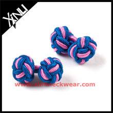 Novos nós de gravata de botão de punho de seda