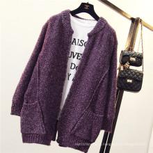 Женщин Batwing рукава пончо вязать свободные свитер пальто