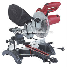 GOLDENTOOL 210mm 1400W Portable Electric Power sliding Miter Saw Aluminum Cutting Saw