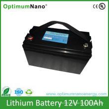 Baterías recargables de la batería de litio del ciclo profundo de 12V 100ah