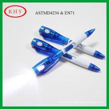 Hot sales promotional ballpoint pen with LED torch