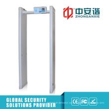 6 Zonas 400 Sensibilidad Walk Through Detector de metales con función de red de PC