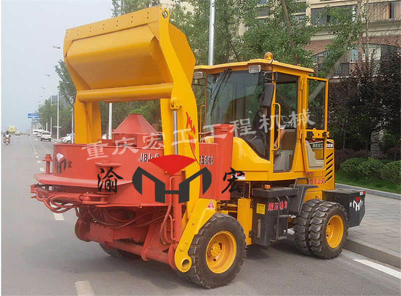 Automatic concrete mixer
