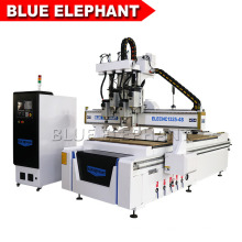 1325 4 Axis CNC Router Engraver Machine, 3D CNC Wood Milling Machine with 4 Air Cooling Spindles