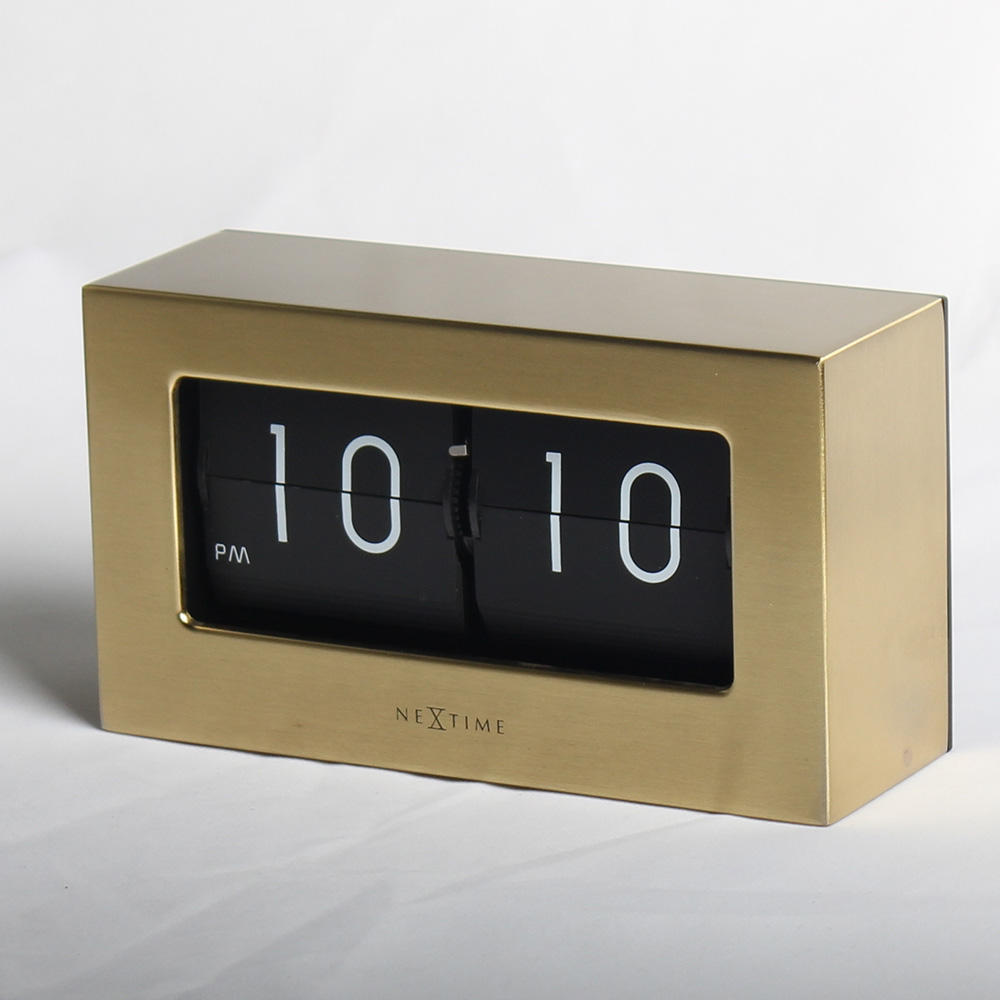 Small Bamboo Box Flip Clock