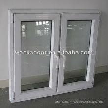 Wanjia a doublé le verre de l'opérateur de la fenêtre à battants en pvc