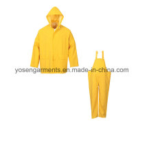PVC Waterproof Outdoor Clothing Workwear Raincoat Rainwear Rain Suit (RWB01)