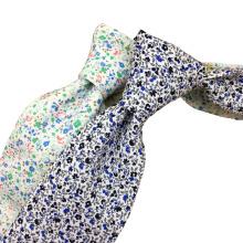 Corbata de algodón impresa delgada hecha a mano del alto 100% de la moda