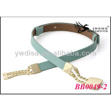 Gold Metal Leather Belts Handmade Wholesale With Size 2.55cmW*72cmL BB0049-2