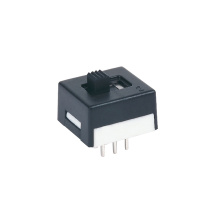 Black DPDT PC Mini interruptores deslizantes