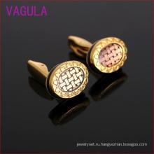 Запонки для манжет Плакировкой золота эллиптических подсолнечника мужская L52102