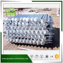 Profesional hecho de bajo precio galvanizado pilas de tornillo helicoidal helicoidal