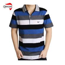 Cotton Stripe Short Sleeves Polo T Shirts (ZJ-6802)