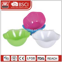 Hot vente 2015 decal respectueux de l'environnement unique en plastique saladier avec BPA libre