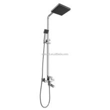 KDS-21 économique garantie qualité noir tête douche carré unique poignée chromée en laiton pluie douche