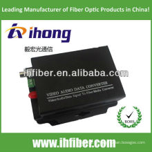 1 Canal Fibra Óptica Video Converter singlemode, 20/40/60 km de alta qualidade final