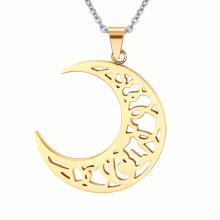 Soleil et Lune épissage pendentif or inox