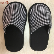 Muji pattern black and white man used indoor palm slipper from factory