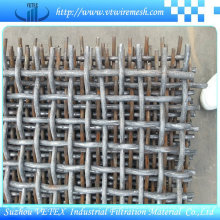 Suzhou Acero Inoxidable 304/316 Crimped red de alambre cuadrada