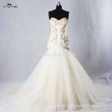 RSW940 Bottom Tulle Crystal Beads For Champagne Colored Mermaid Wedding Dresses 2015