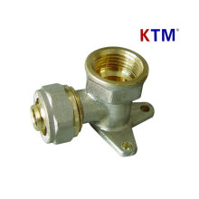 Латунный штуцер трубы - стен-Покрынный Женский локоть (холодной и горячей воды, штуцер трубы)