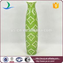 Handpaint verde antiguidades china dolomite vaso