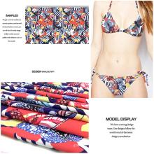 Nueva tendencia impresa a Olyester Spandex tela para traje de baño