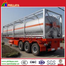 Dreiachsiger chemischer flüssiger Behälter-LKW