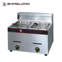 K037 Kitchen Equipment Countertop Stainless Steel Deep Fryer
