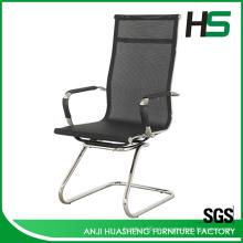 Cadeira executiva de malha preta de alta volta